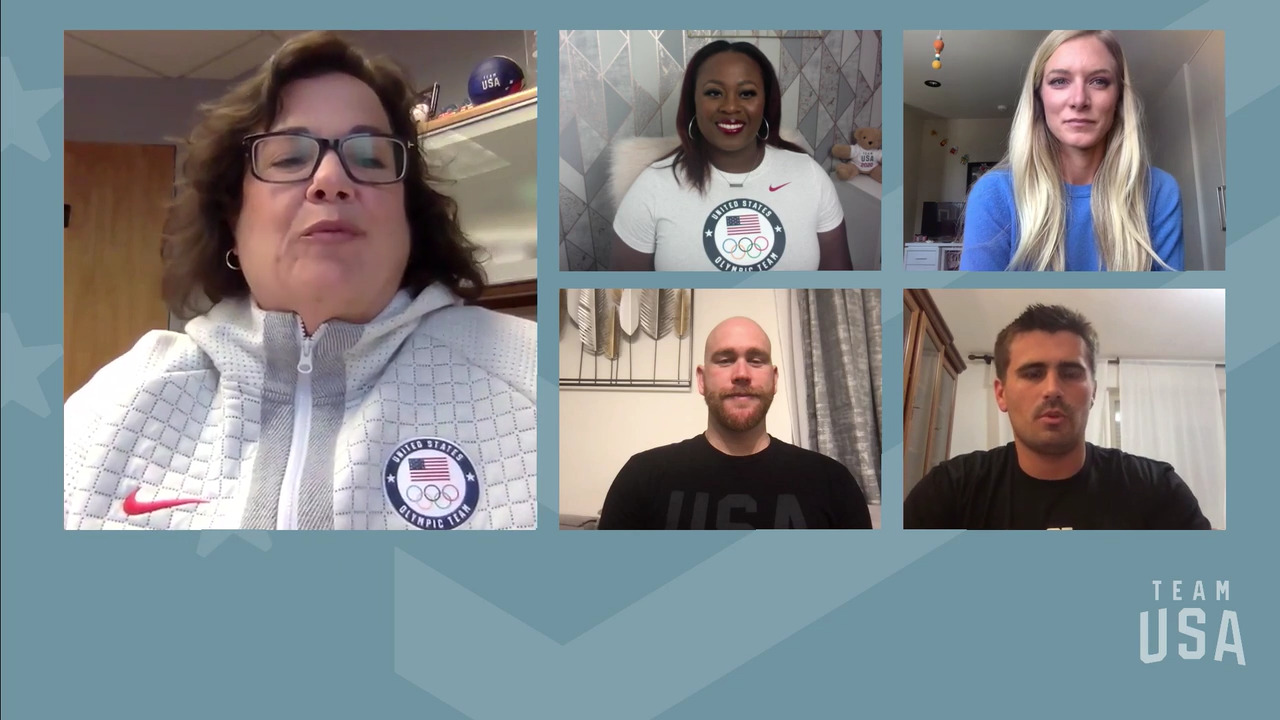 Alex Bowen, Michelle Carter, Emma Coburn, Ben Hallock   Tokyo 2020 Team USA Virtual Media Summit