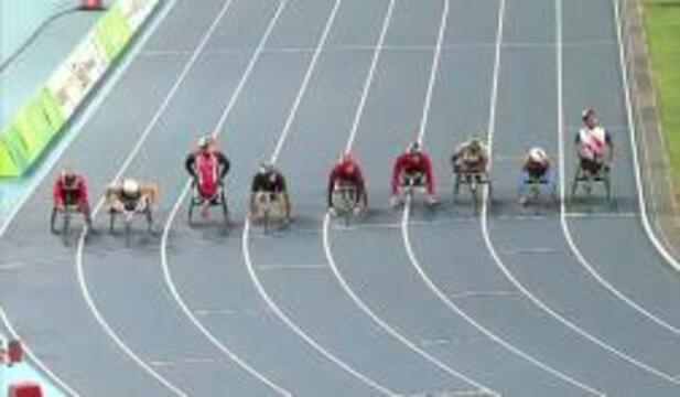 Joshua George | Men's T54 5000m Round 1 Heat 1 | 2016 Paralympic Games
