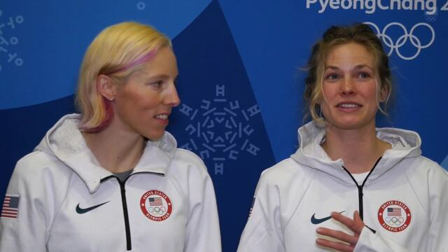 Kikkan Randall And Jessie Diggins On Their Historic Cross-Country Skiing Gold-Medal Win | Team USA In PyeongChang