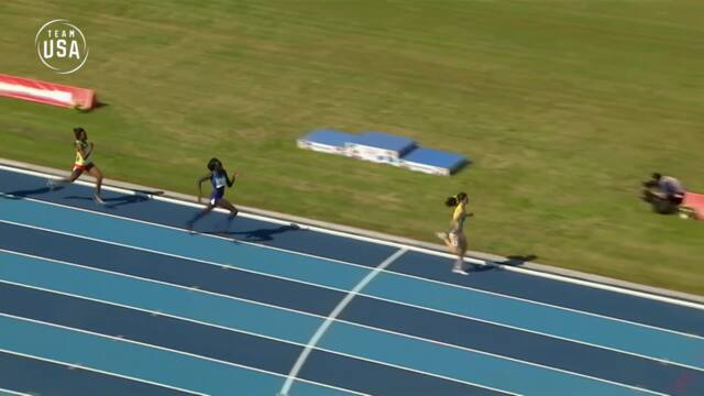 Athing Mu Comes From Behind To Take Second In The Women's 800-meter