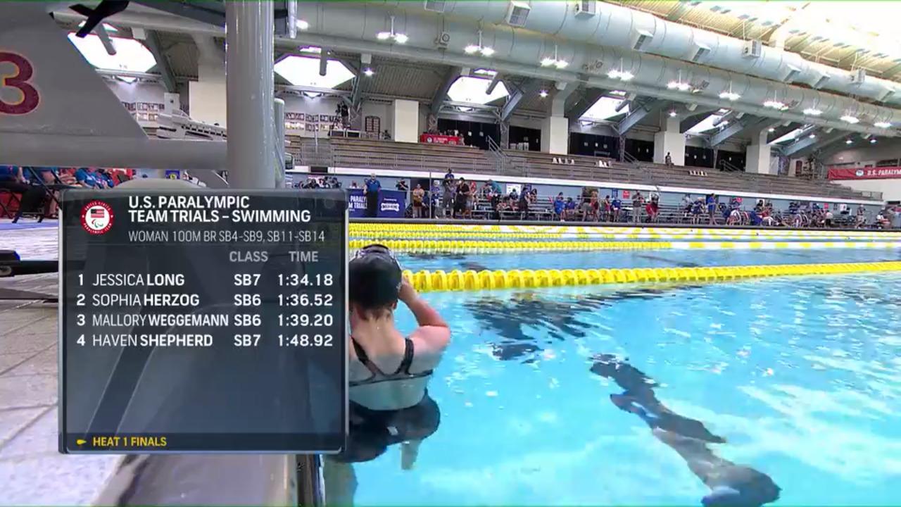 Para Swimming Women's 100-Meter Breaststroke SB4-SB9, SB11-SB14 | U.S. Paralympic Team Trials 2021