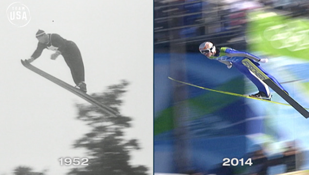 Then & Now: Ski Jump