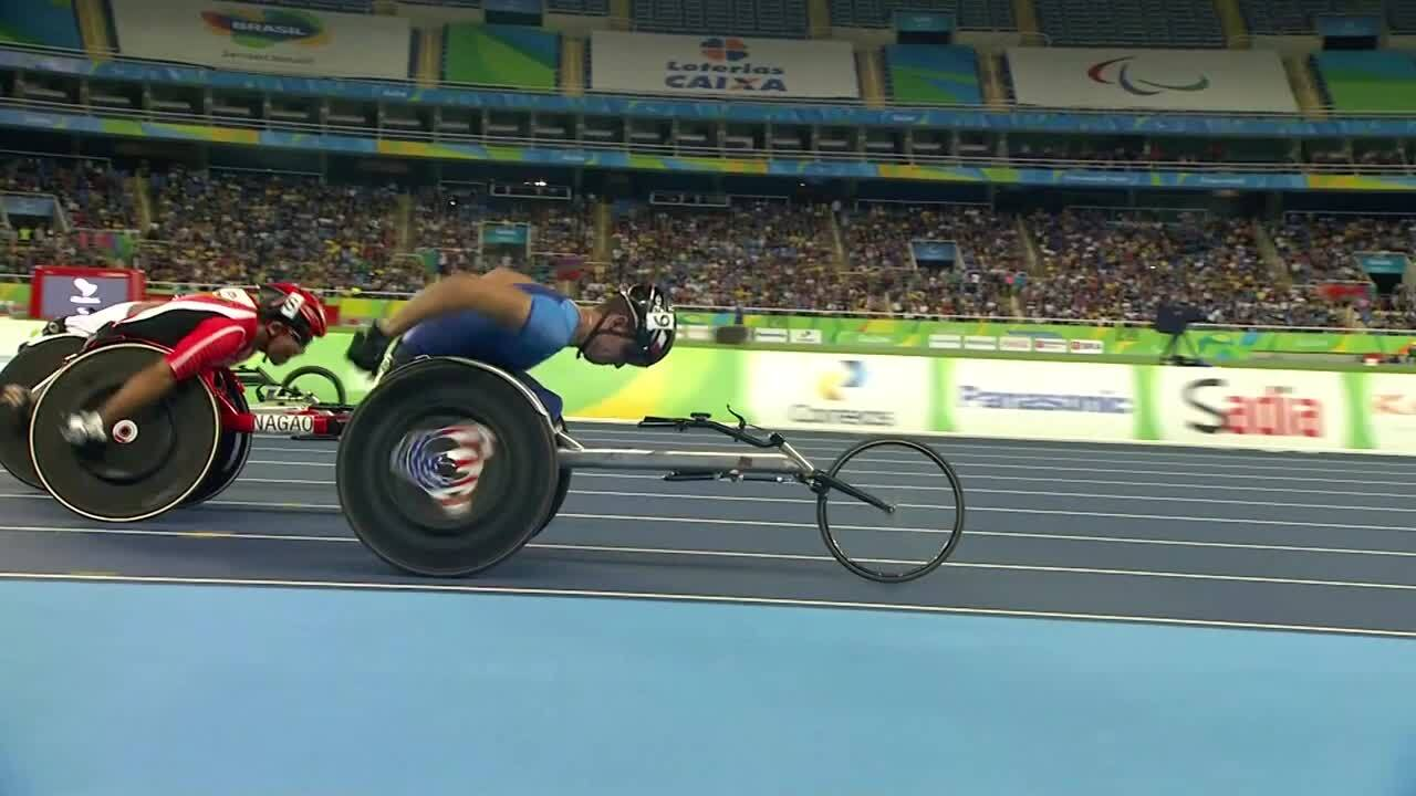 Erik Hightower | Men's 100m T54 Round 1 Heat 1 | 2016 Paralympic Games