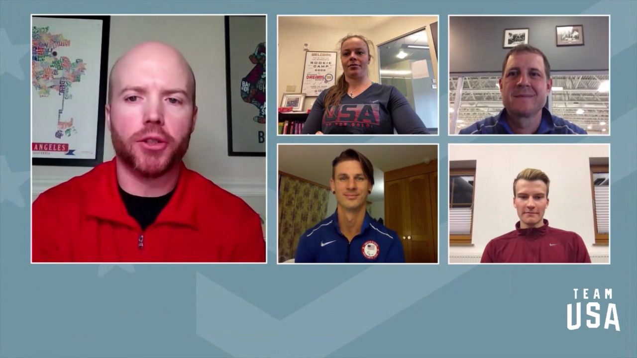 Breezy Johnson, Ben Loomis, John Shuster, Evan Strong | Beijing 2022 Team USA Media Summit