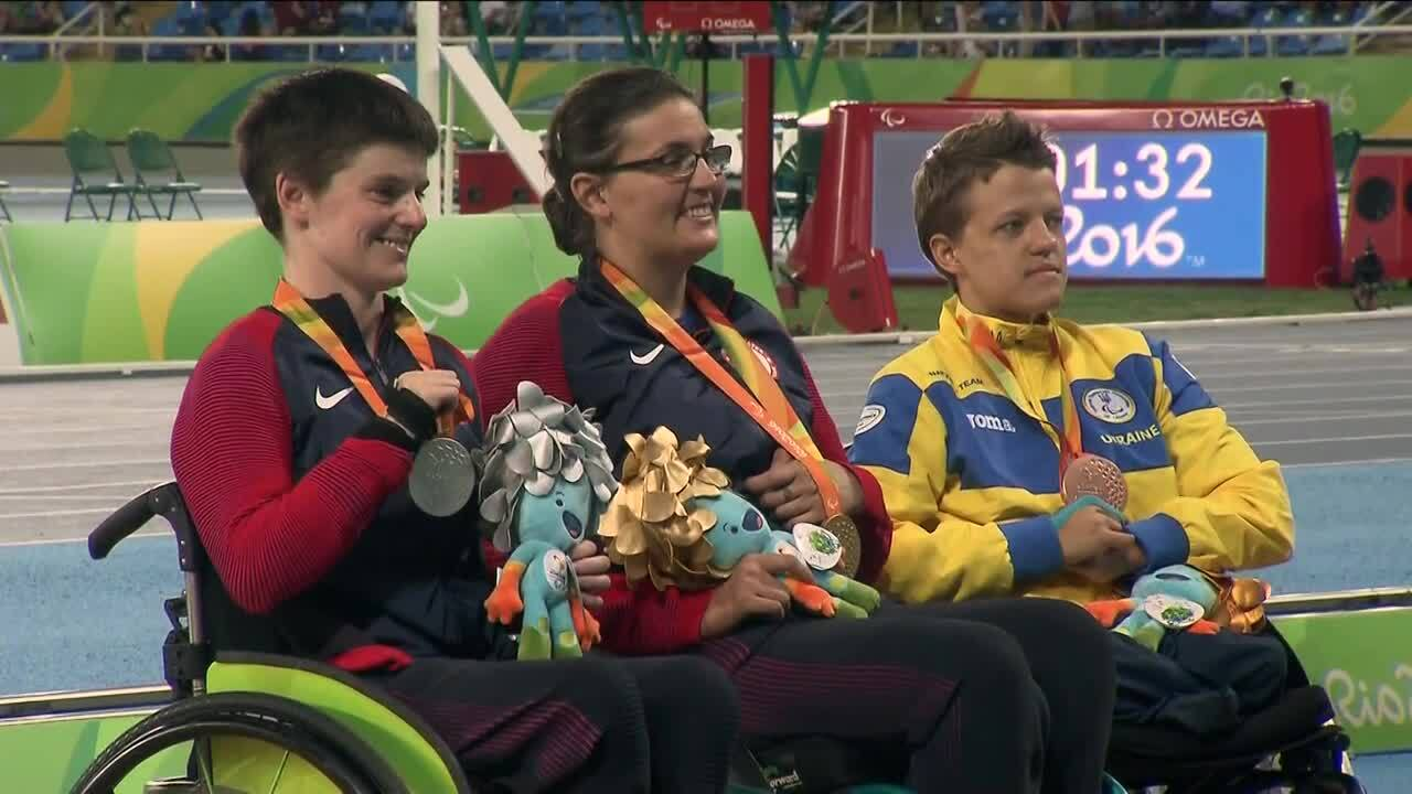 Rachael Morrison and Cassie Mitchell | Women's Discus Throw F52 Gold and Silver Medal Ceremony | 201