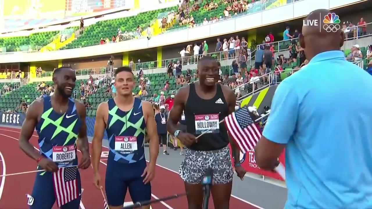 Men's 110 Hurdles Post-Race Interview | Track & Field U.S. Olympic Team Trials 2021