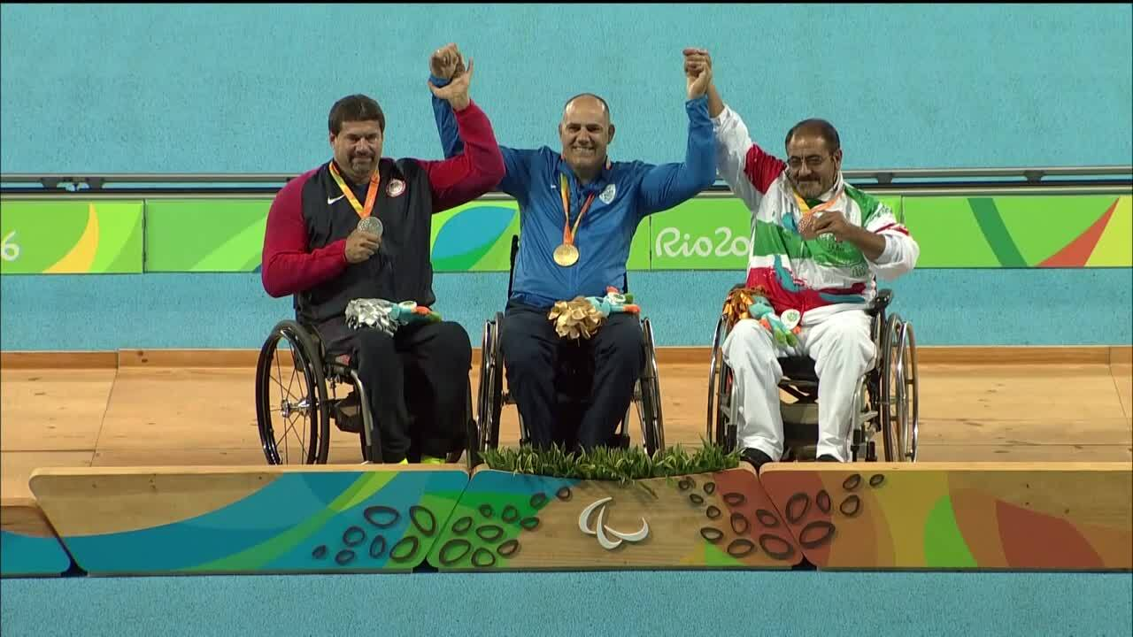 Scot Severn | Men's Shot Put F53 Final Silver Medal Ceremony | 2016 Paralympic Games