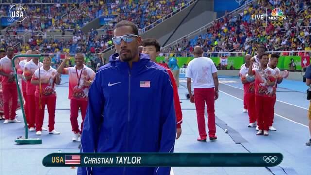 Christian Taylor Repeats Triple Jump Gold