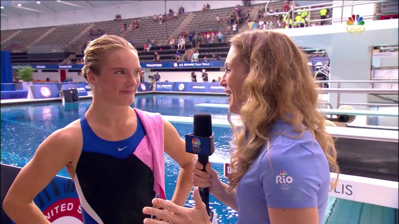 Olympic Diving Trials | Katrina Young Reacts To Qualifying For Rio