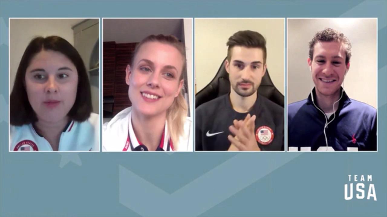 Jason Brown, Zachary Donohue, Madison Hubbell  | Beijing 2022 Team USA Media Summit