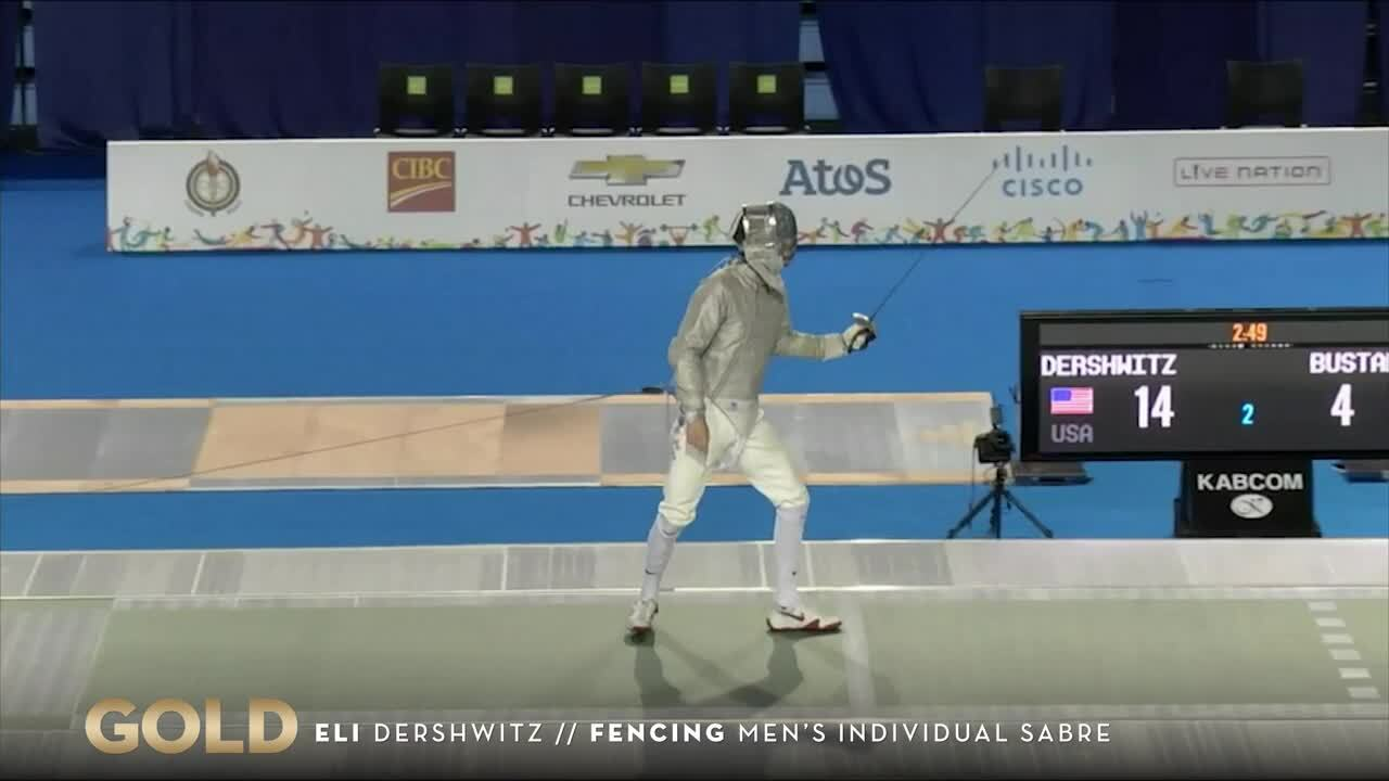 Dershwitz Takes Fencing Gold