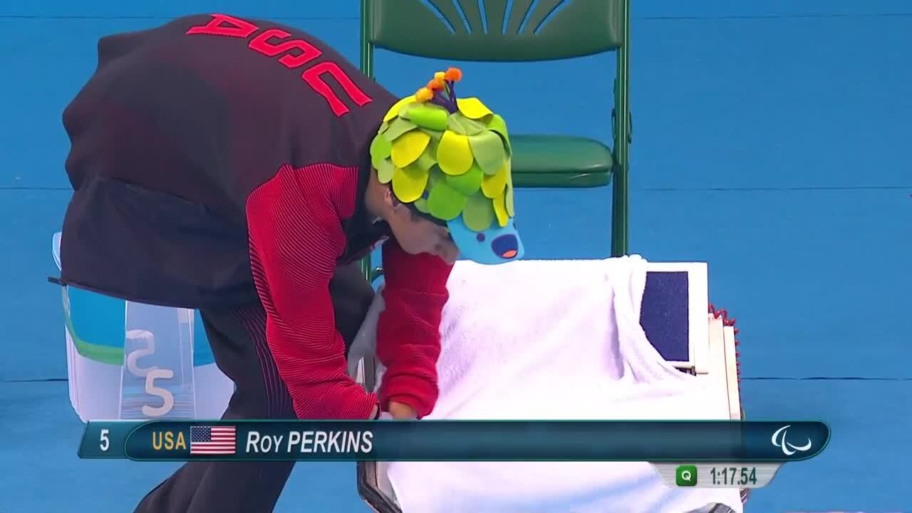 Roy Perkins | Men's 100m Freestyle S5 Final Silver | 2016 Paralympic games