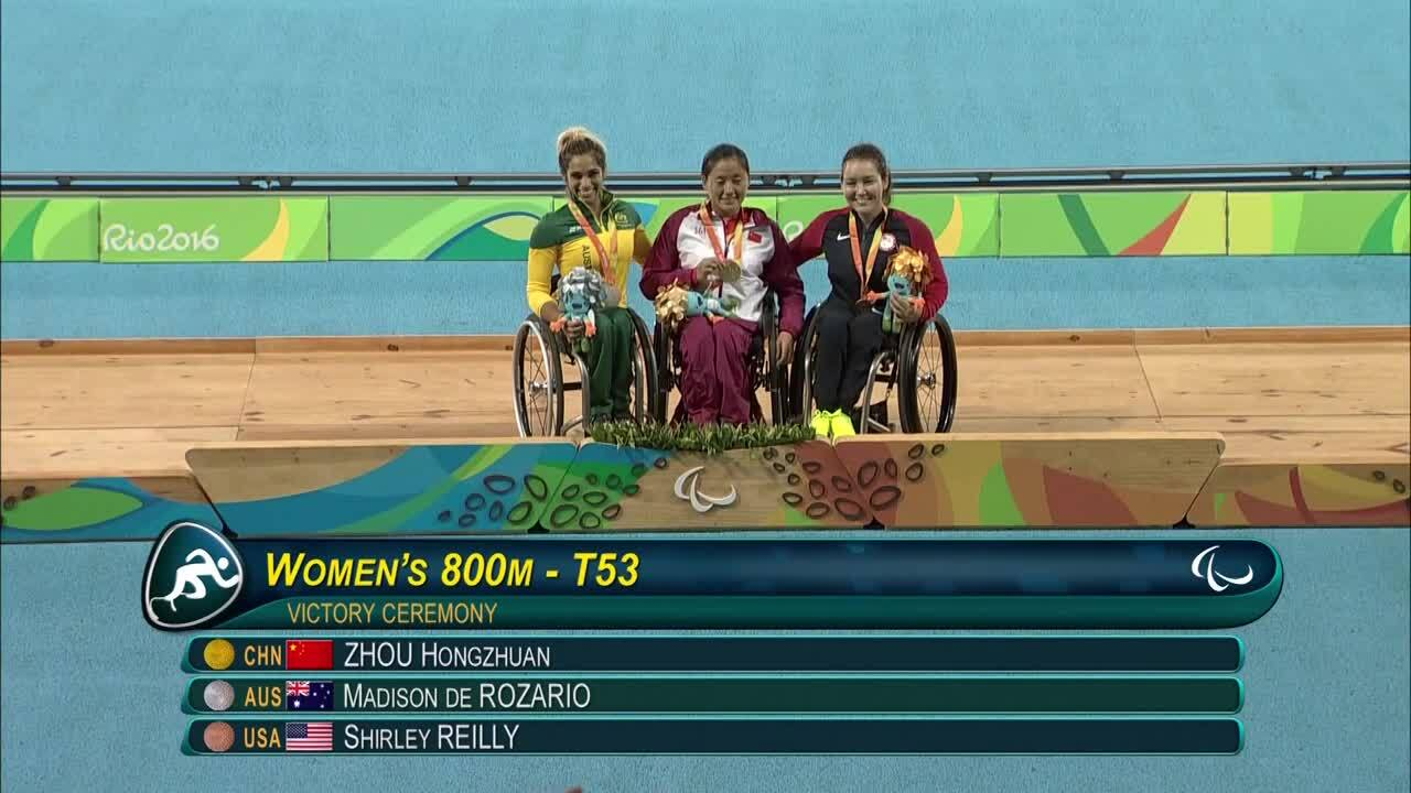 Shirley Reilly | Women's 800m T52/53 Medal Ceremony | 2016 Paralympic Games