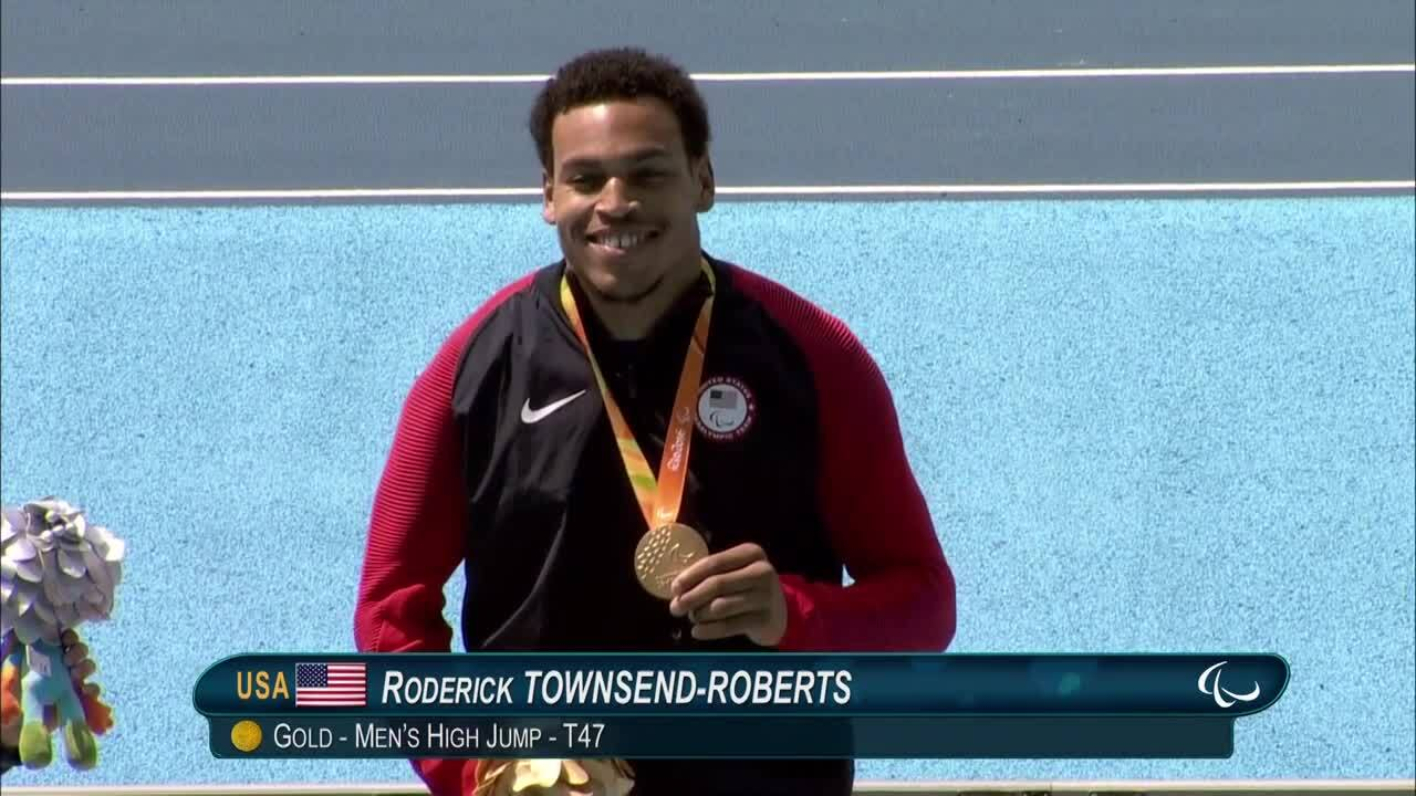 Roderick Townsend-Roberts | Men's High Jump - T47 | Gold Medal Ceremony | 2016 Paralympic Games