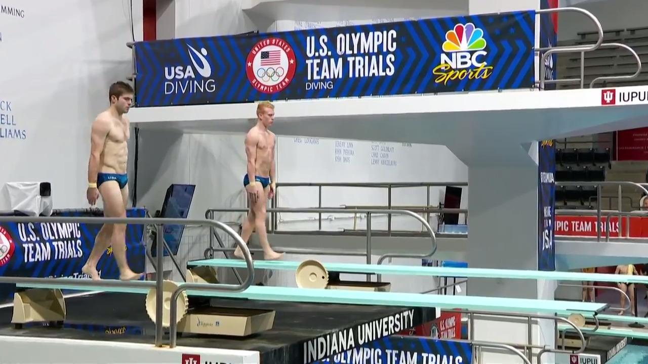 Andrew Capobianco & Michael Hixon Men's 3-Meter Springboard Synchro Final Dive | Diving U.S. Olympic Team Trials