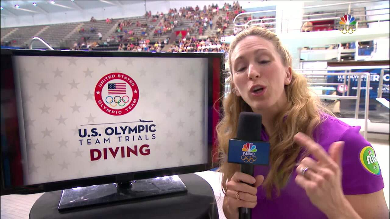 Olympic Diving Trials | Laura Wilkinson Compares Side-By-Side Dives