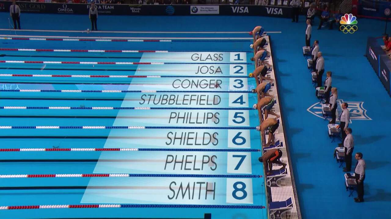 Olympic Swimming Trials | Michael Phelps Wins 100m Butterfly Final