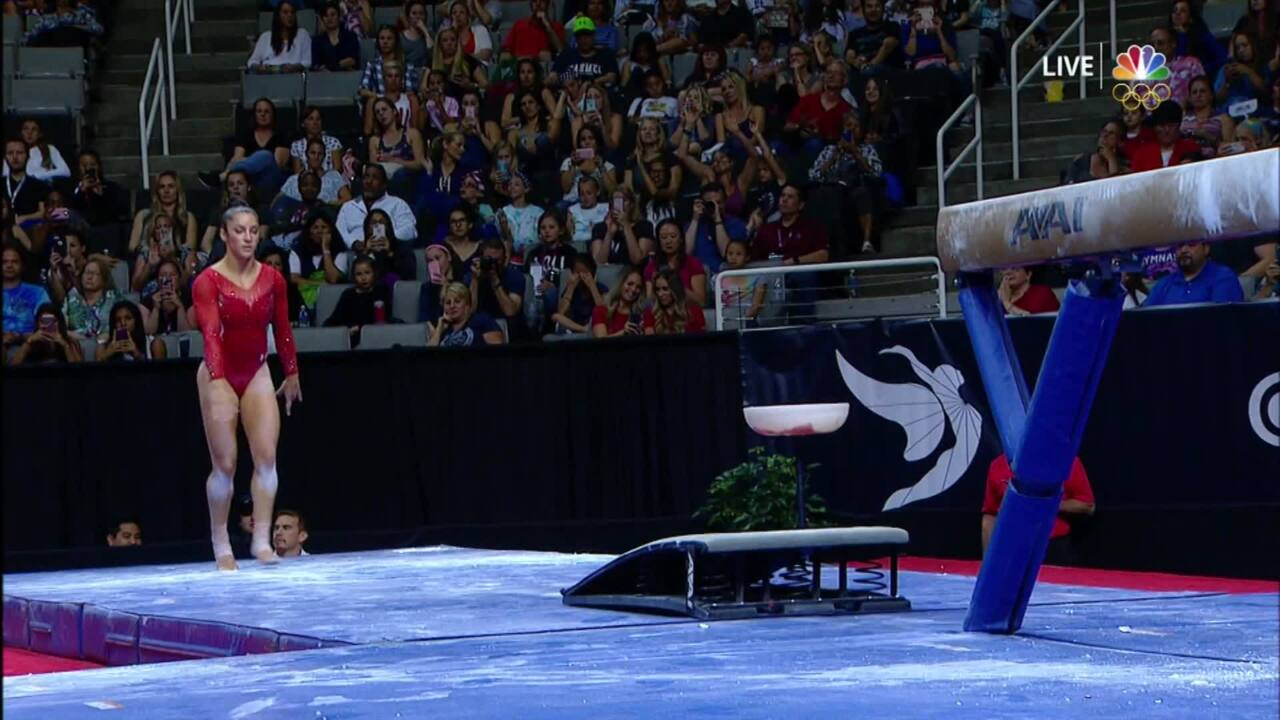 Olympic Gymnastics Trials | Aly Raisman Solid But Not Perfect On Beam