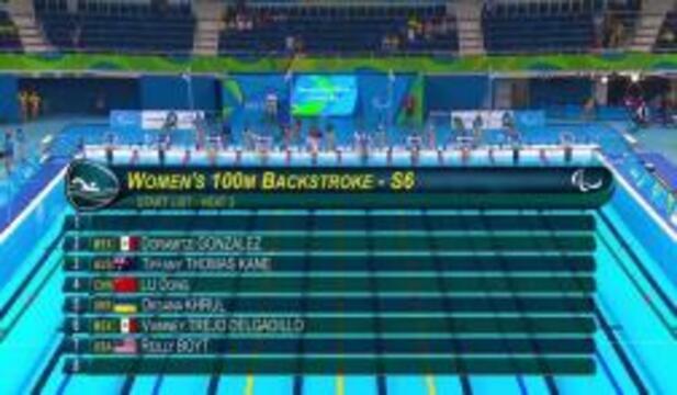 Reilly Boyt | Women's 100m Backstroke S6 Heat | 2016 Paralympic Games