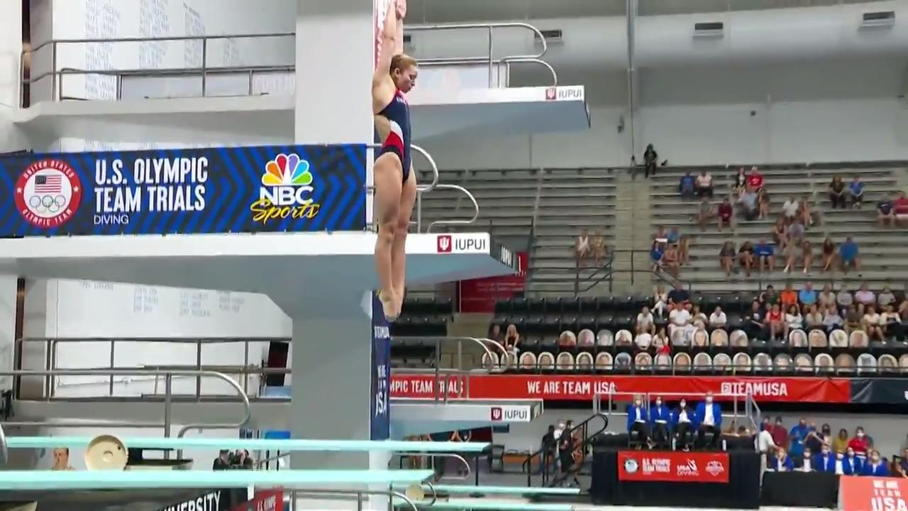 Hailey Hernandez Women's 3-Meter Springboard Final Dive | Diving U.S. Olympic Team Trials