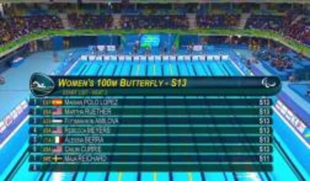Currie, Meyers, Ruether | Women's 100m Butterfly S13 Heat | 2016 Paralympic Games