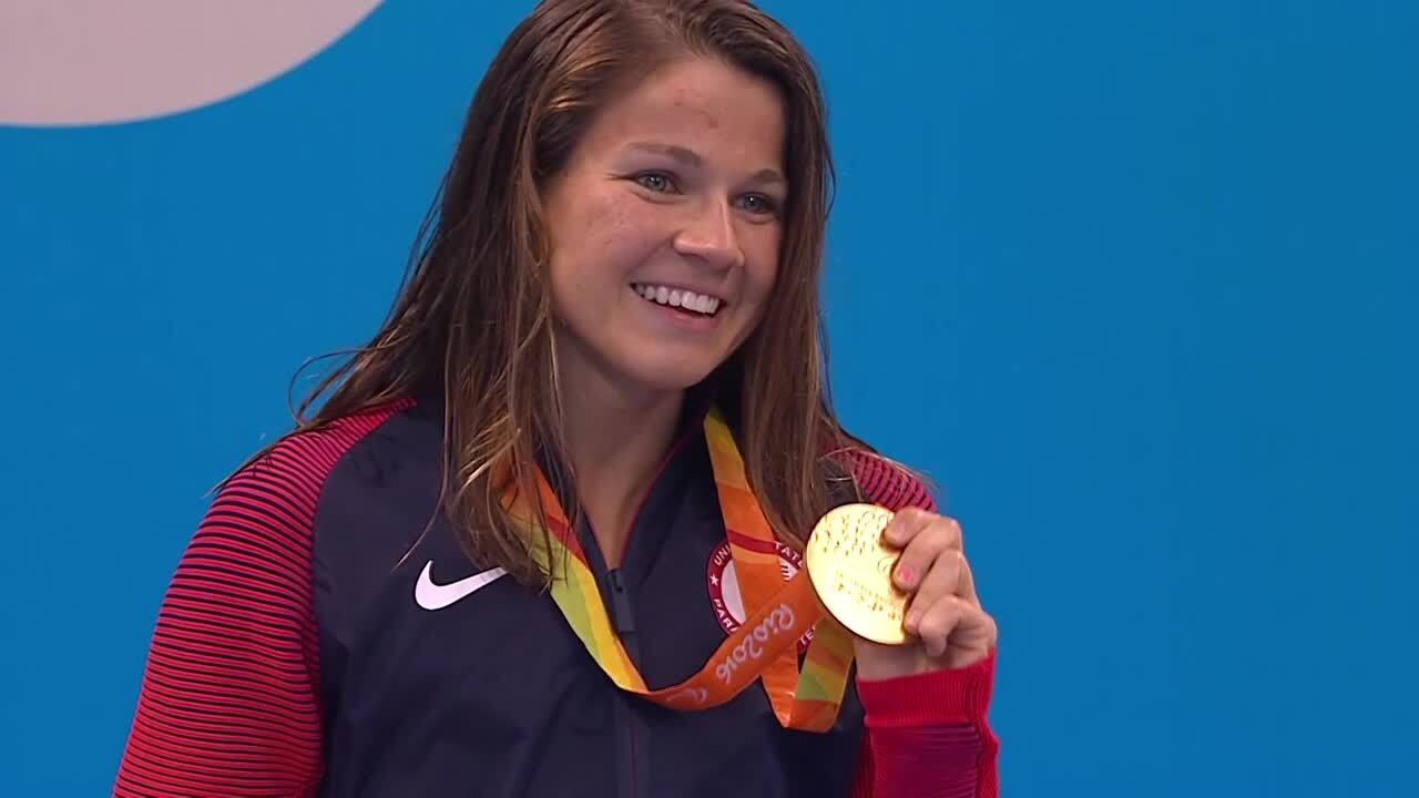 Rebecca Meyers | Women's 400M Freestyle S13 Gold Medal Ceremony | 2016 Paralympic Games