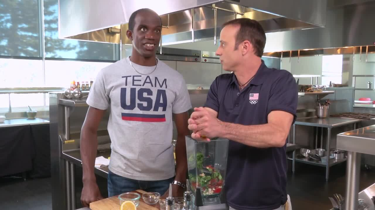 Cooking With Team USA | Brick Chicken