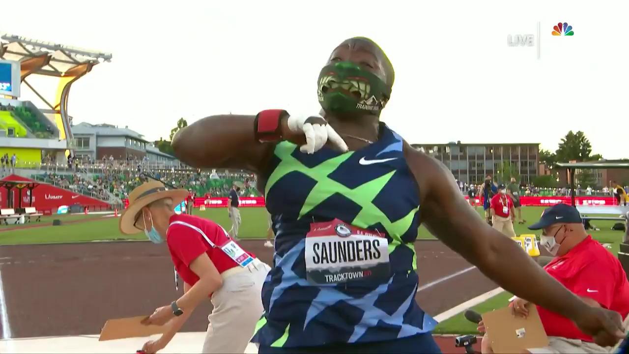 Raven Saunders Olympic Trials Record Shot Put Throw | Track & Field U.S. Olympic Team Trials 2021