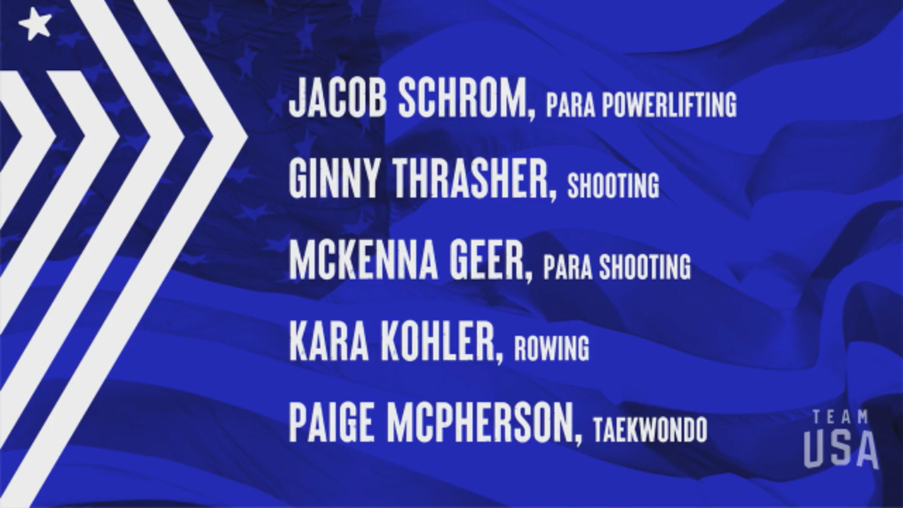 Jacob Schrom, Ginny Thrasher, McKenna Geer, Kara Kohler, Paige McPherson   Tokyo 2020 Team USA Virtual Media Summit