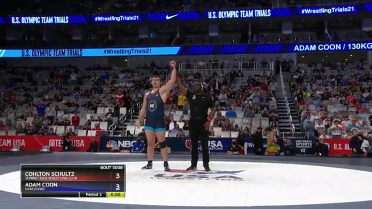 Adam Coon VS Cohlton Schultz - Men's Greco-Roman (130 kg) | Wrestling U.S. Olympic Team Trials 2020