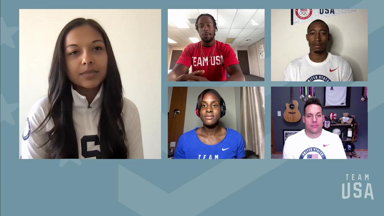 Carlin Isles, Perry Baker, Naya Tapper, Joe Delagrave | Tokyo 2020 Team USA Virtual Media Summit