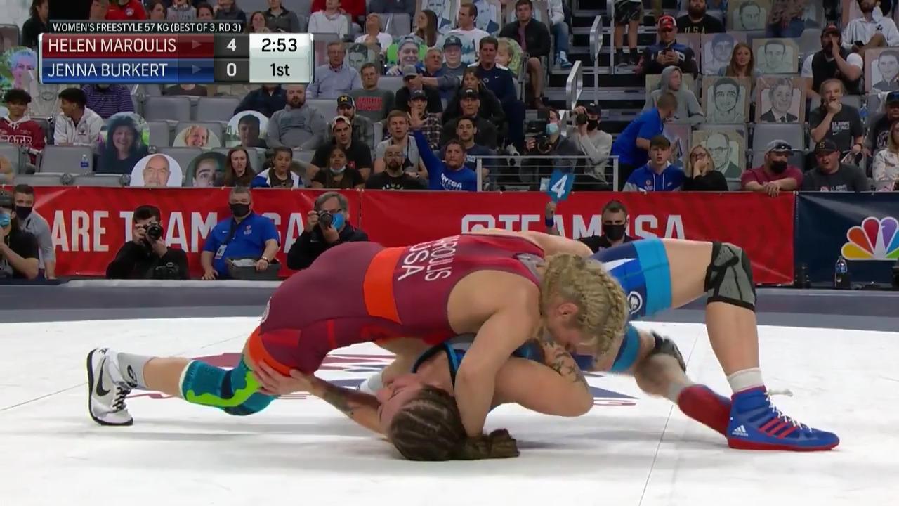 Helen Maroulis VS Jenna Burkert - Women's freestyle (57 kg.) | Wrestling U.S. Olympic Team Trials 2020