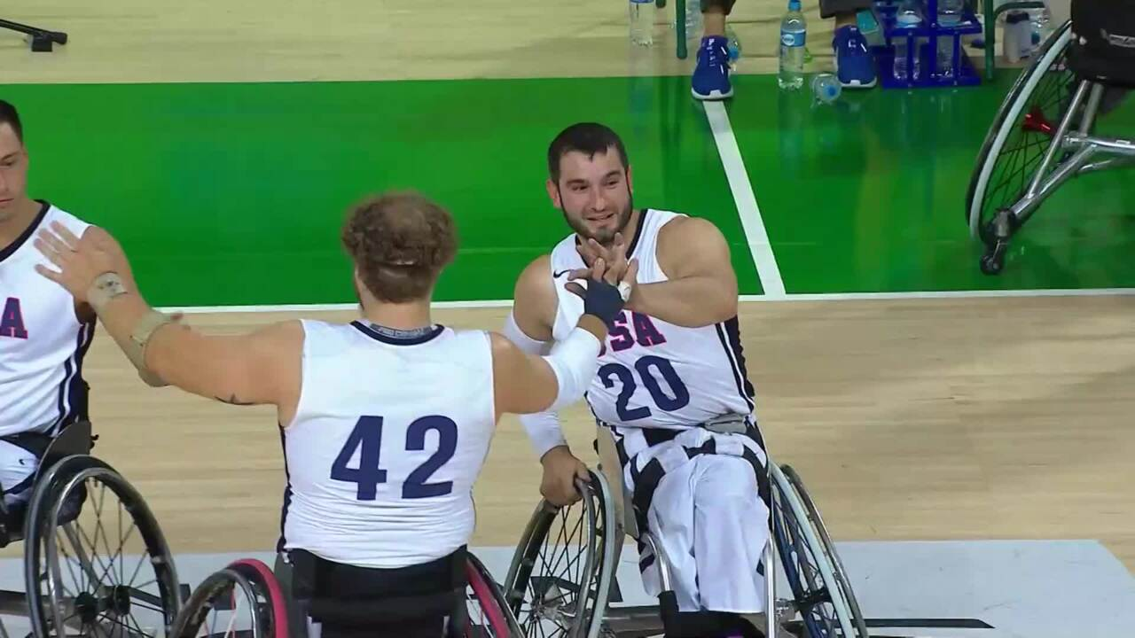 Highlights USA vs IRI | Men's Wheelchair Basketball | 2016 Paralympic Games