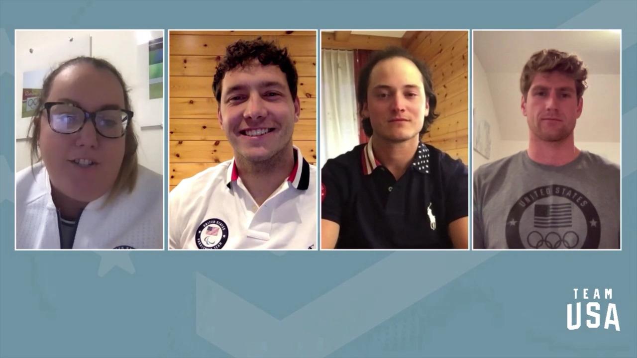 Ryan Cochran-Siegle, Andrew Kurka, Thomas Walsh   Beijing 2022 Team USA Media Summit