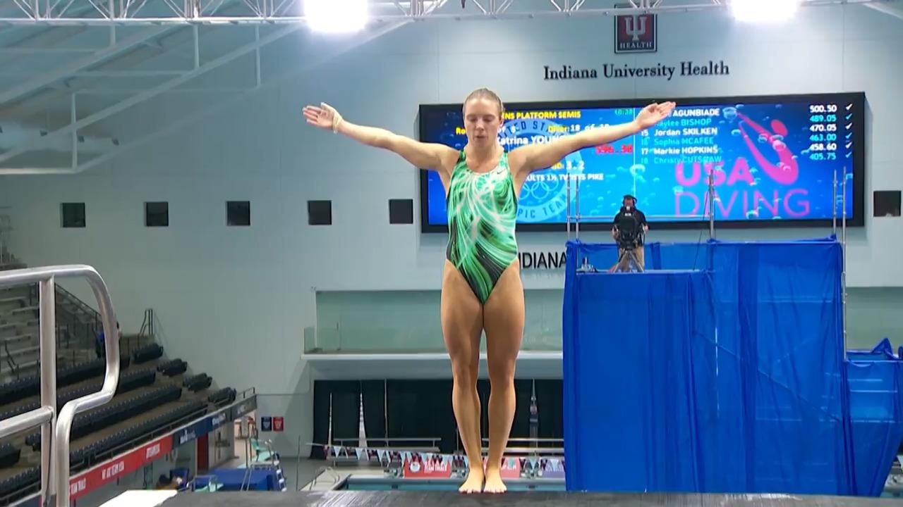 Katrina Young Dive #5 - 10-Meter Platform Semifinals | Diving U.S. Olympic Team Trials 2021