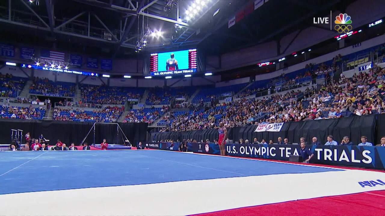 Men's Gymnastics Olympic Trials   Donnell Whittenburg Performs On Floor