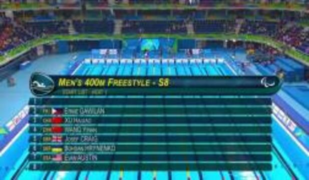 Evan Austin | Men's 400m Freestyle S8 Heat | 2016 Paralympic Games