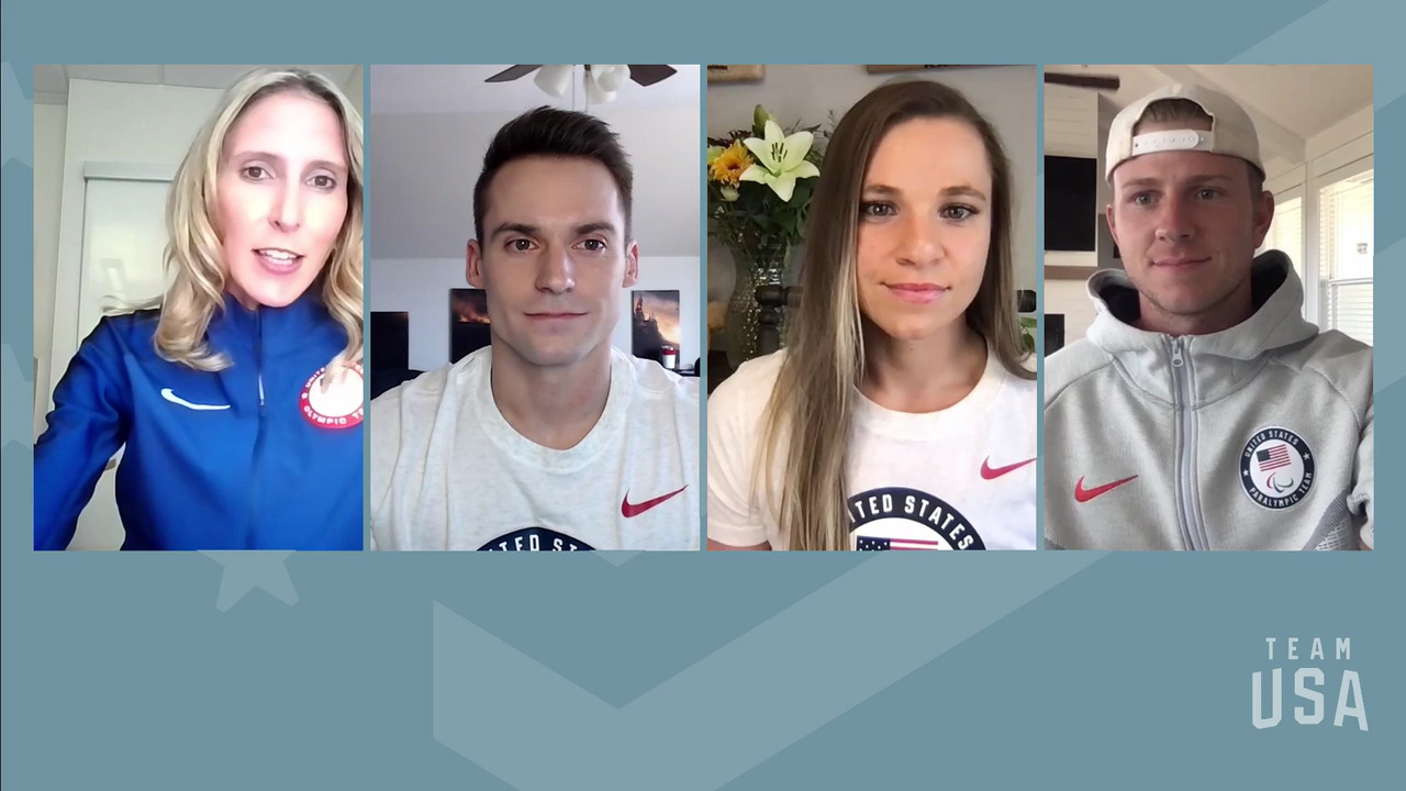 Oksana Masters, Sam Mikulak, Hunter Woodhall | Tokyo 2020 Team USA Virtual Media Summit