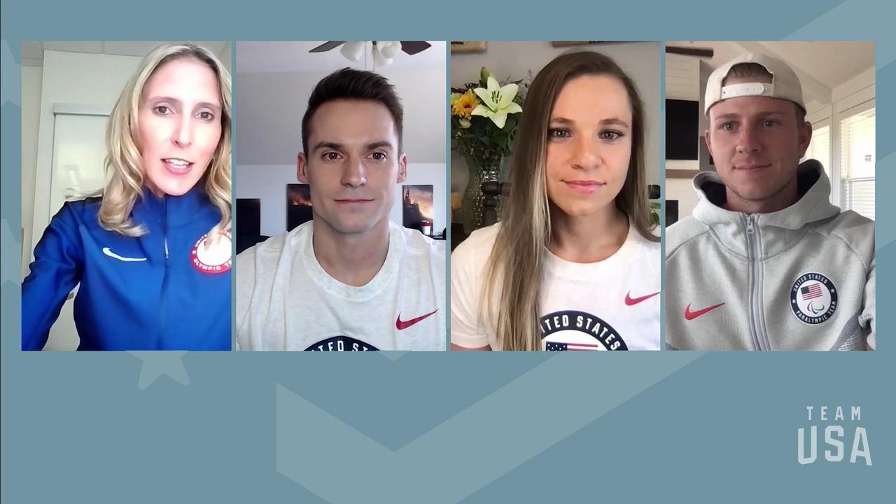 Oksana Masters, Sam Mikulak, Hunter Woodhall | Tokyo 2020 Team USA Virtual Media Summit