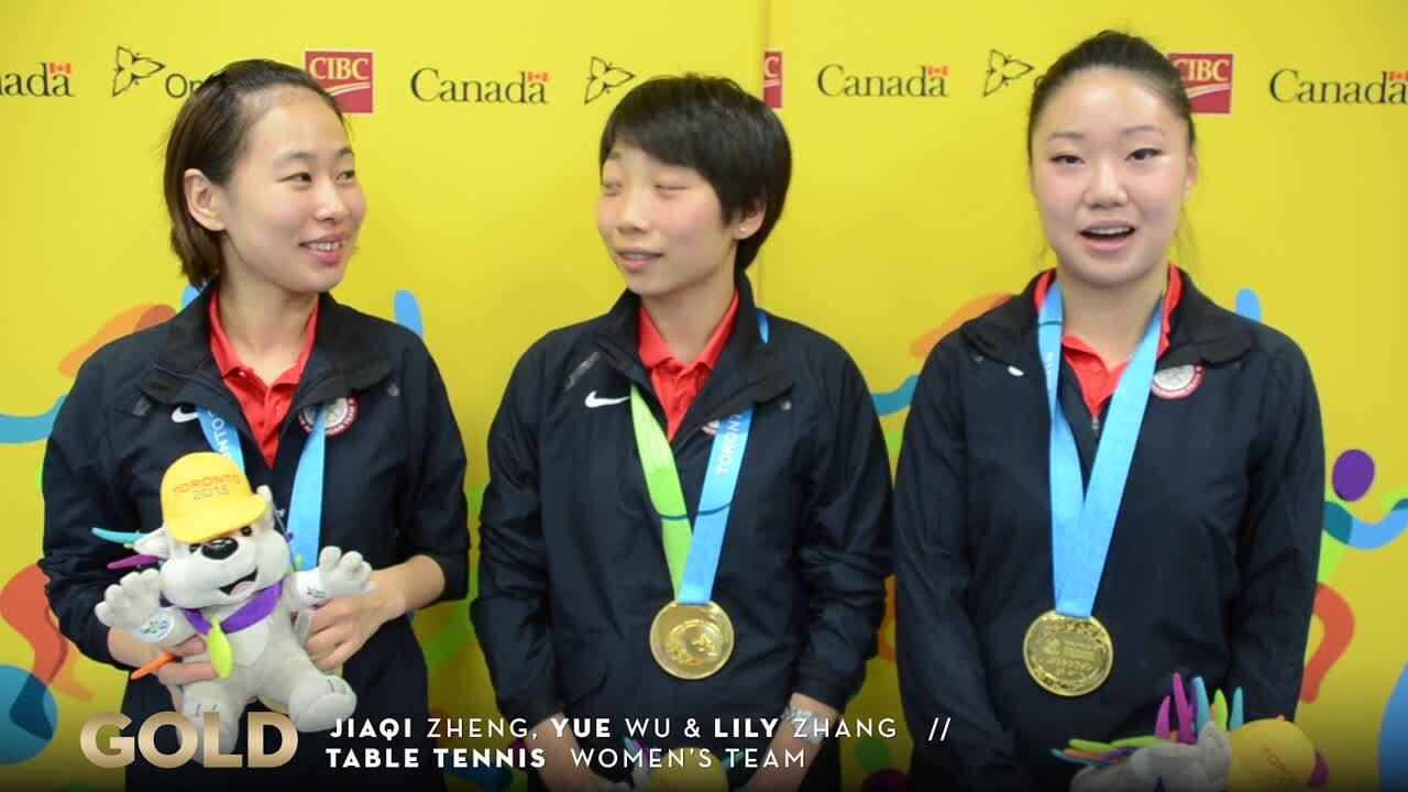 Women's Team Table Tennis Takes Gold