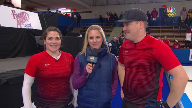 Olympic Mixed Doubles Curling Trials | No Sibling Rivalry As Becca And Matt Hamilton Qualify For PyeongChang