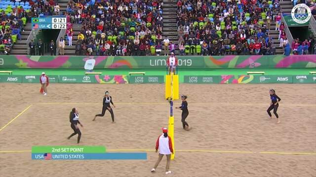USA Women's Beach Volleyball Defeats Brazil In The Semifinals | Pan American Games Lima 2019