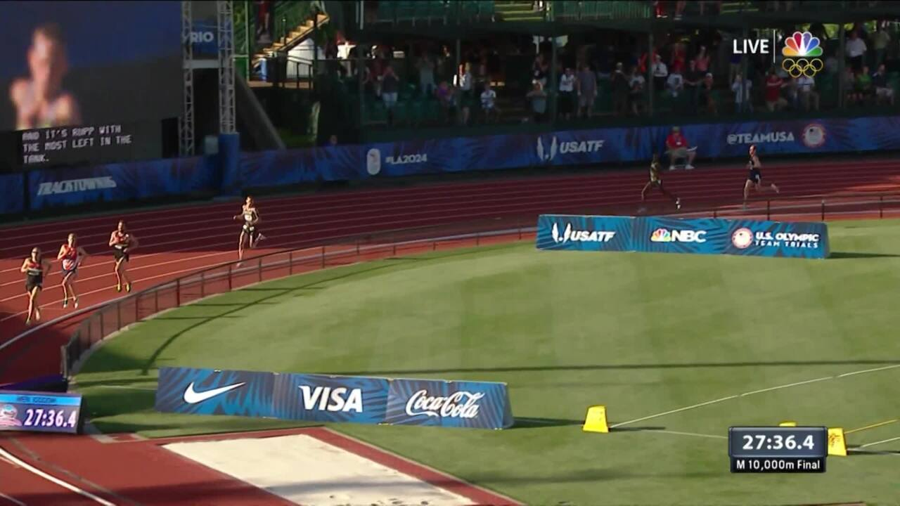 Olympic Track And Field Trials | Galen Rupp Wins 10,000m Final
