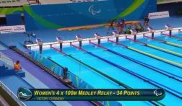 Aspden, Marks, Smith, Konkoly | Women's 4x100m Medley Relay 34 Points Bronze Medal Ceremony | 2016 P