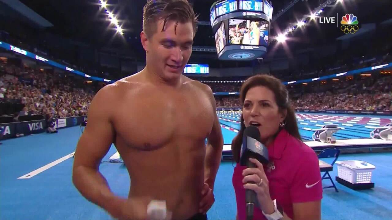 Olympic Swimming Trials | Nathan Adrian Interview After 100-Meter Freestyle