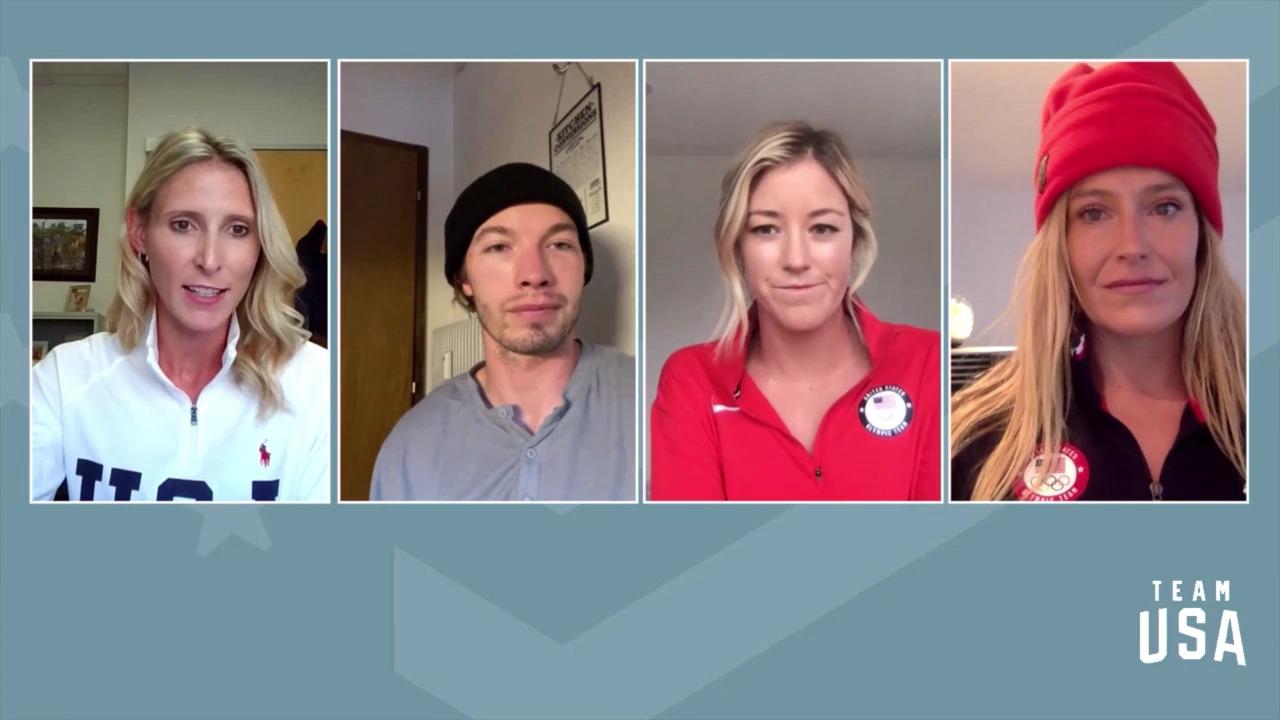 David Wise, Brita Sigourney, Jamie Anderson | Beijing 2022 Team USA Media Summit