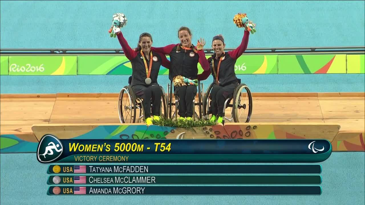 McFadden, McClammer, McGrory Receive Medals For 5000m T53/54 | 2016 Paralympic Games