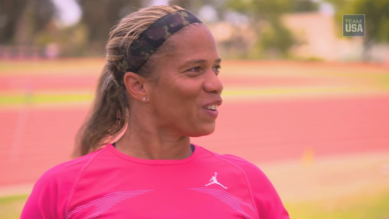April Holmes Prepares For Rio