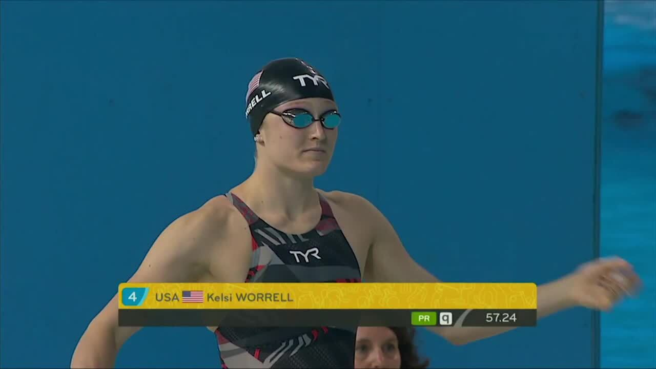 Kelsi Worrell Makes A Splash In First International Meet