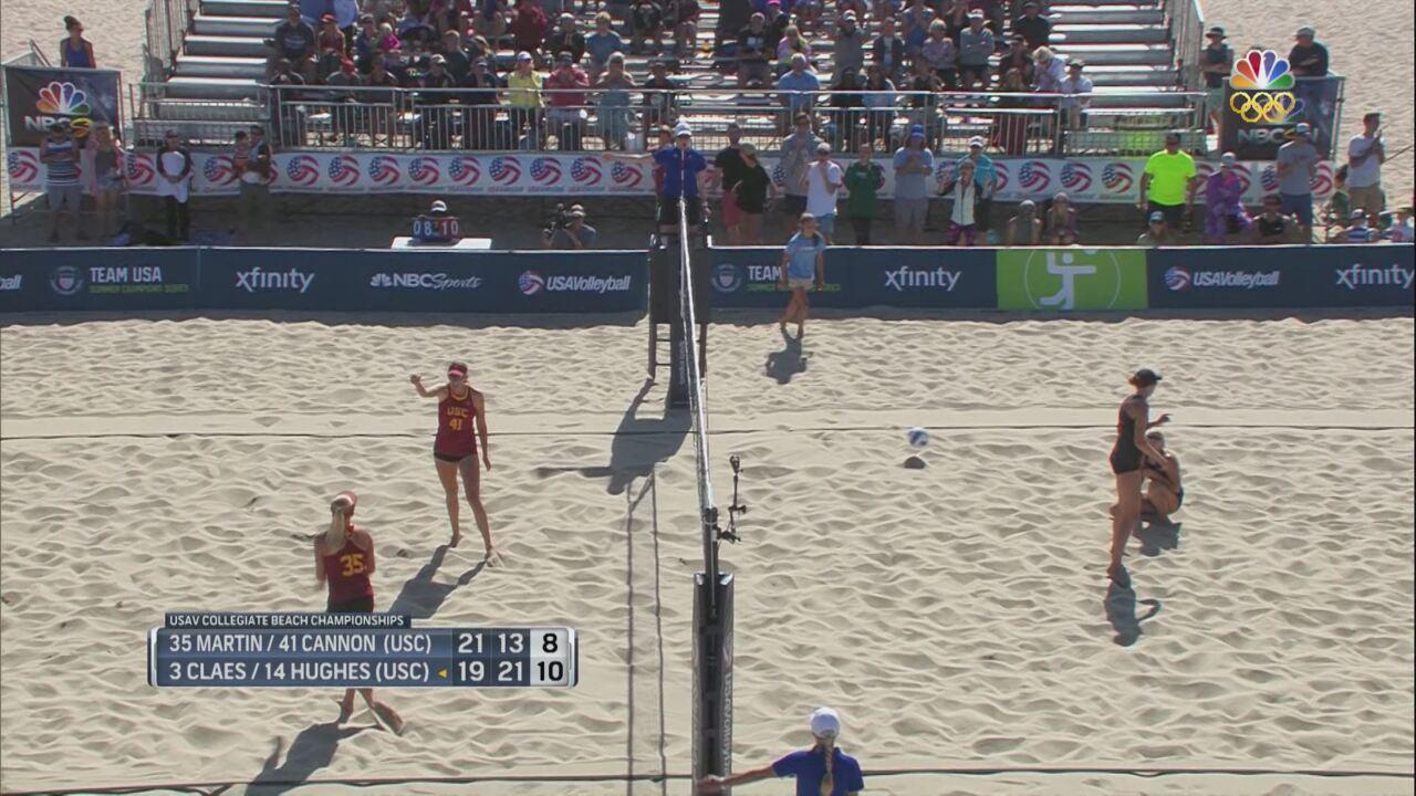 An All-USC Beach Volleyball Final At Team USA Summer Champions Series